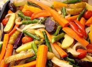 Simple Roasted Vegetable Salad