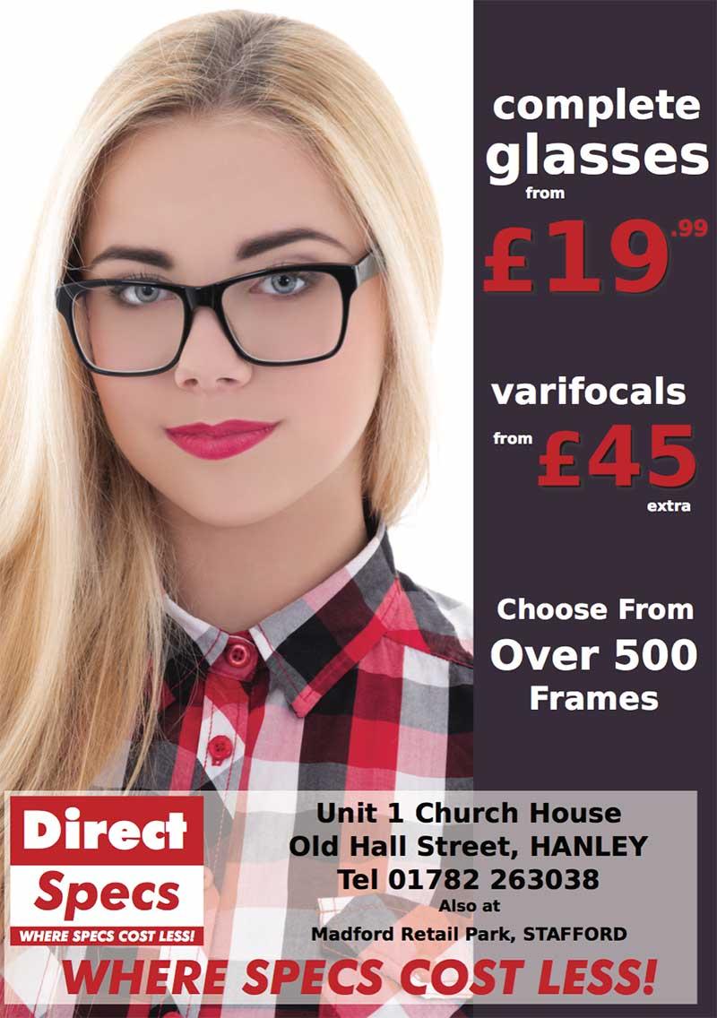 e4e927f402 Complete Glasses From £19.99 - Direct Specs - Trade Locally